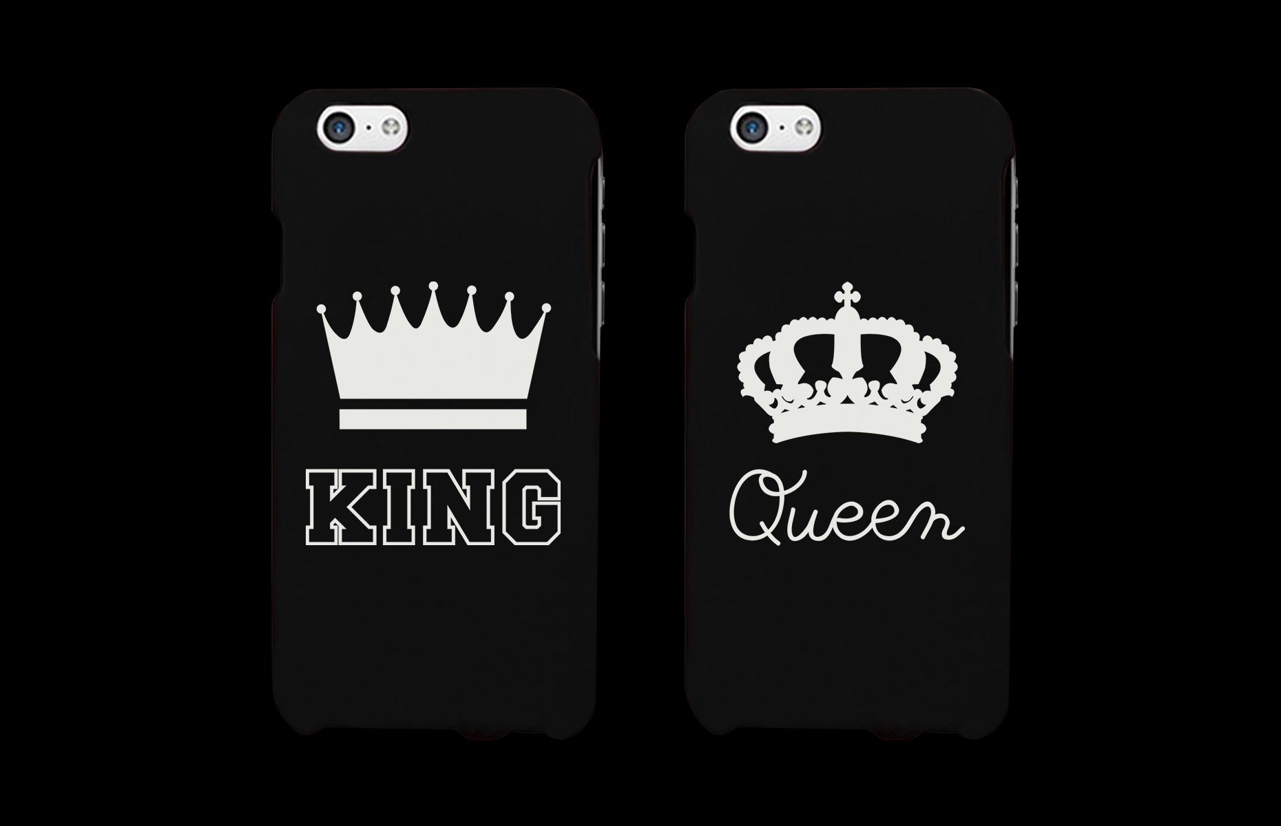 uk availability caa7e cc9f6 King and Queen Matching Couple Phone Cases (Set)