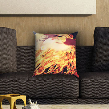 Paramore Hayley Williams Flaming Hair Pillow Cover , Custom Zippered Pillow Case One Side Two SIde
