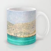 Art Coffee Cup Mug At Sea 2 Photography Java Lovers decor photo photograph Mediterranean texture ocean aqua sky blue beach nautical decor