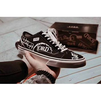 Violent Vans Vance Style 36 Slim L.O.R.D Wu Yifan canvas shoes with the same style of graffiti F-XYXY-FTQ