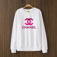 CHANEL Woman Men Top Sweater Pullover White I