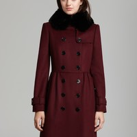 Burberry London Coat - Coatbridge Fur Collar | Bloomingdale's