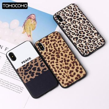 Fashion Sexy Leopard Print Panther Soft TPU Phone Case Cover Coque For iPhone 7 7Plus 6 6S 5S 8 8Plus X XS Max Rated