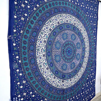 Tapestry, Sun Moon Mandala Hippie Tapestry, Hippie Mandala Wall Hanging, Indian Bedspread Bed Sheet Cover Throw, Bohemian Boho Ethnic Decor