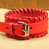 Fashion Leather Bracelet Women Leather Jewelry Bangle Cuff Bracelet Men Leather Bracelet CX25-R