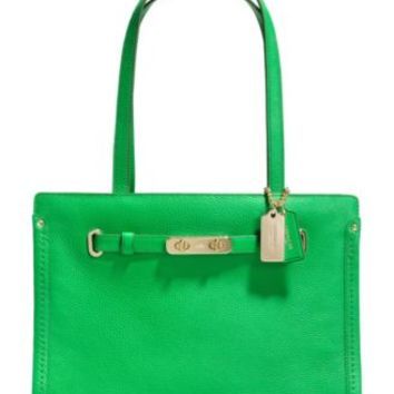 COACH SWAGGER SMALL TOTE IN POLISHED PEBBLE LEATHER   macys.com