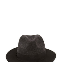 Colorblock Wool Fedora Hat