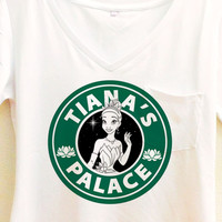 Tiana's Palace Coffee Shirt | Princess and the Frog Starbucks | Disney Tiana