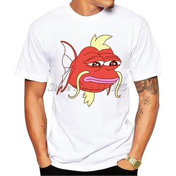 Men S 2017 Fashion Cartoon Magikarp Design T Shirt Boy Cool Tops Hipster Fish Printed Summer T-shirt - Beauty Ticks