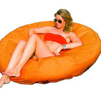 New Swimline Solstice 15020O SunSoft Fabric Orange Inflatable Island Pool Float