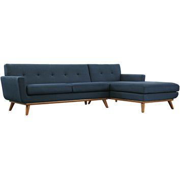 Engage Right-Facing Sectional Sofa Azure EEI-2119-AZU-SET