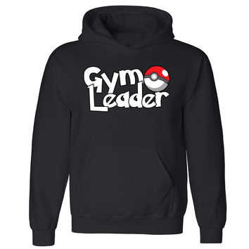 Gym Leader Unisex Hoodie Poke Go Fan Gamer Mobile Nav Hooded Sweatshirt