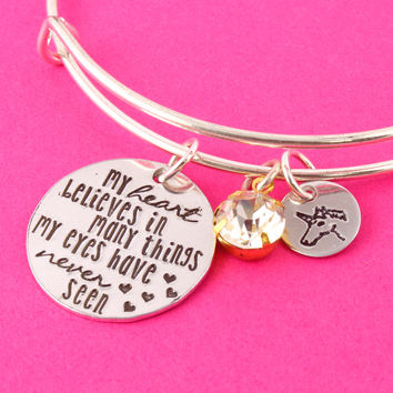 My Heart Believes - Unicorn Bracelet