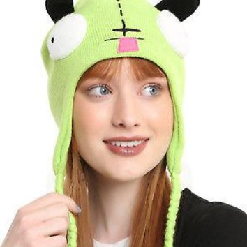 Licensed cool Invader Zim Gir Face Ears Cosplay Costume Peruvian Laplander Beanie Knit Hat NEW