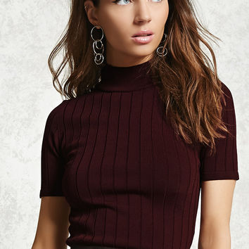 Contemporary Ribbed Lace-Up Top