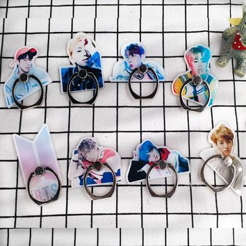 KPOP BTS Bangtan Boys Army Korean Style Fashion K Pop  The Same Mobile Phone Bracket  Holder Ring Stand Mount Stent Collection Gifts Decor AT_89_10