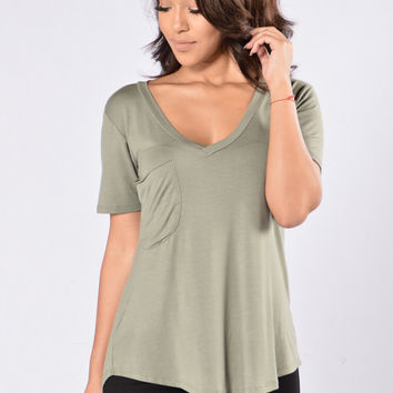 Catch A Flight Tee - Light Olive