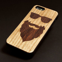 Lumber Case - Apple iPhone 5 iPhone 4  Sony Xperia Samsung Galaxy Real Wood Black Transparent Case hard case