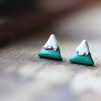 Mountain: Clay Triangle Post Earrings