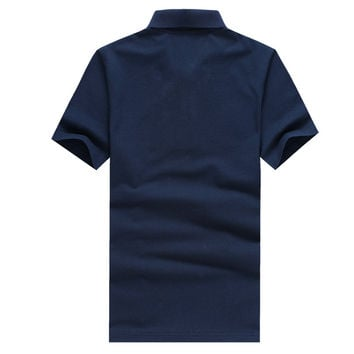 summer style men collar polo shirt men clothing solid mens polo shirts business casual poloshirt cot