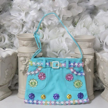 Girl Purses - Childrens Accessories - Girls Gifts - Cute Purse - Little Gifrls Gifts - Denim Accessories - Gifts Under 30