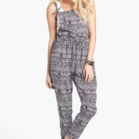 Fire Print Jumpsuit (Juniors) | Nordstrom