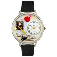 Whimsical Watches Unisex U0640001 Teacher Black Skin Leather Watch