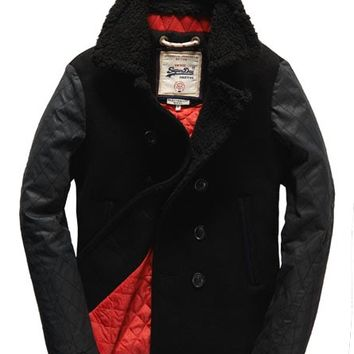 Superdry Hackman Pea Coat - Men's Jackets