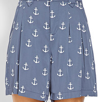 Pleated Anchor Shorts
