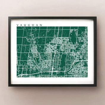 Vaughan Ontario Map Print