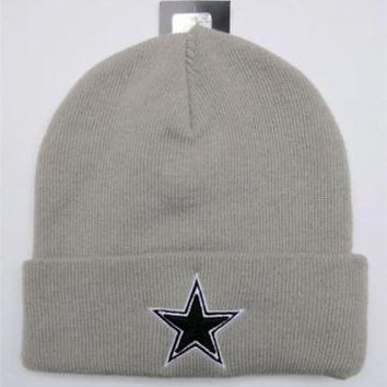 Dallas Cowboys Beanie Knit OSFA New Era NFL Basic Gray