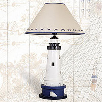 Lamp with Lighthouse Stand - High Shine