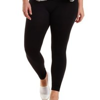 Plus Size Black High-Waisted Seamless Leggings by Charlotte Russe