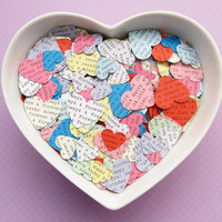 1000 Personalised Heart Confetti / Customized Hearts / Various Colour Choices / Wedding, Table Decor