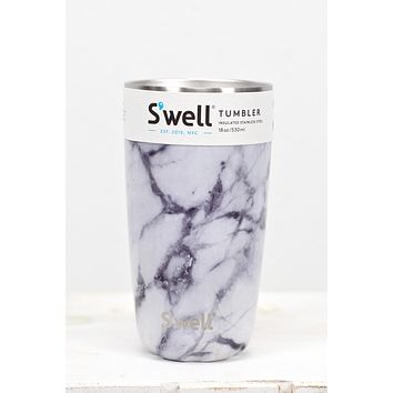 S'well Bottle: White Marble Tumbler {18 oz}