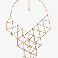 Linked Geo Bib Necklace