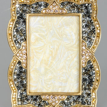 "Pave Scallop 2"" x 3"" Frame - Jay Strongwater"