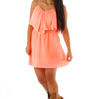 All Starts Here Dress: Neon Coral