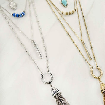4 Row Multi Layered Necklace