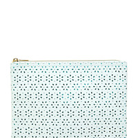 Floral Perforated Makeup Pouch