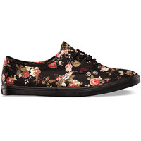 Vans Floral Authentic Lo Pro Womens Shoes Black/Black  In Sizes