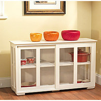 Sliding Door Stackable Cabinet | Overstock.com