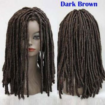 Rasta Style African Dreadlocks Long Curly Rolls Hair Cosplay Costume Heat-Resistant fibers cospay wig