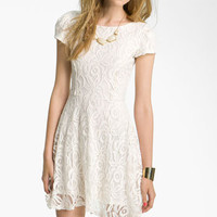 Fire V-Back Lace Dress (Juniors) | Nordstrom