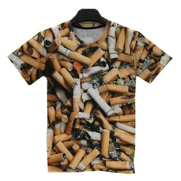Cigarette 3D Printed T shirt For Men