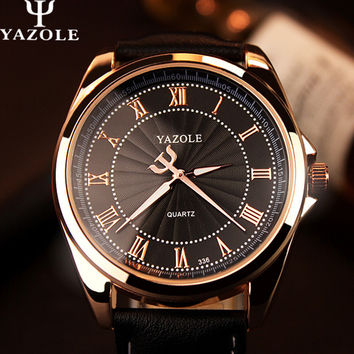 YAZOLE Quartz Watch Men Top Brand Luxury Best Famous  Wristwatch Male Clock Wrist Watch Mens Quartz-watch Relogio Masculino
