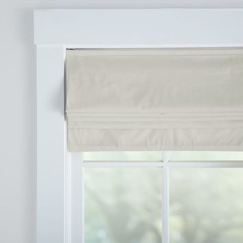 Metro Cordless Roman Shade With Blackout Lining