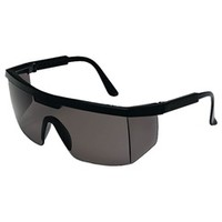 Crews Excalibur Safety Glasses - Black Frame - Gray Lens