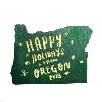 SnowMade - Happy Holidays From Oregon Magnet