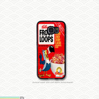 Froot Loops and other Retro Cereal Boxes, Custom Phone Case for Galaxy S4, S5, S6